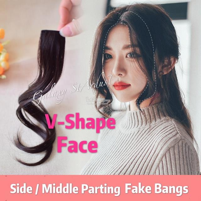 20 Design Fake Bangs Fringe Clip On Hair Piece Wig Curl Sideburn 58cb2a69c35b