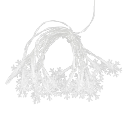 20 LEDs Christmas Snowflake String Light (WHITE)