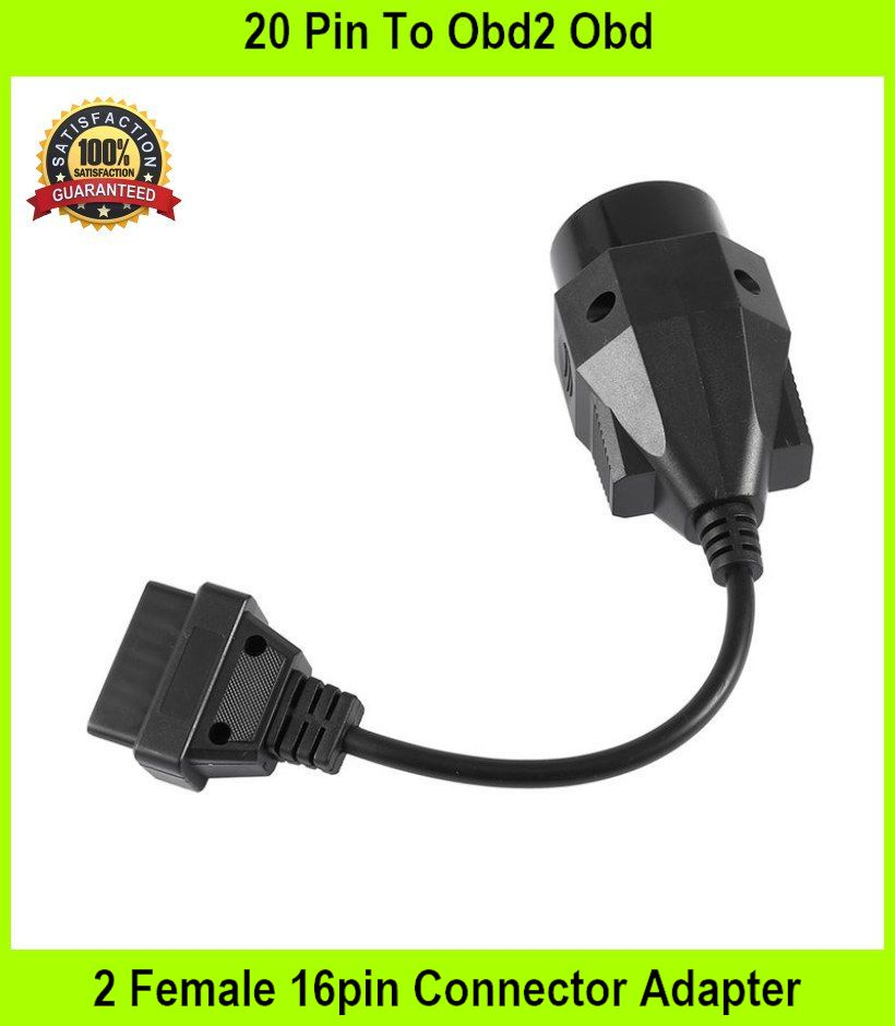 20 Pin To Obd2 Obd 2 Female 16pin Connector Adapter Cable For Bmw