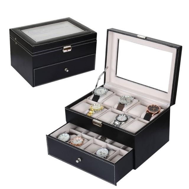 20 Slots PU Leather Watch Display & Storage Box Case ~ Ready Stock
