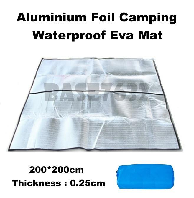 200*200*0.25cm Outdoor Aluminium Foil Waterproof Camping Mat Sheet