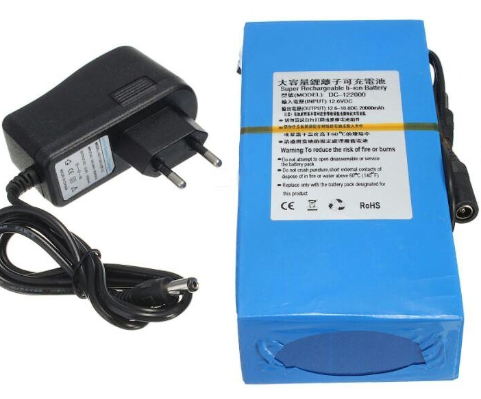 20000mAH 12V Rechargeable Lithium UPS Battery with Charger