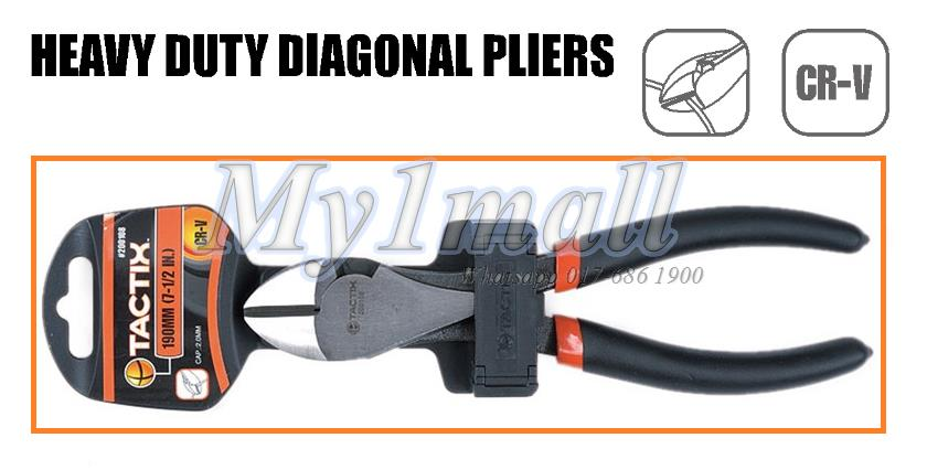 200108 TACTIX PLIER HEAVY DUTY DIAGONAL