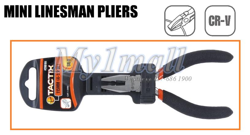200191 TACTIX PLIERS MINI LINESMAN