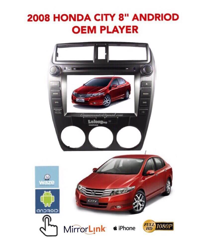 2008 HONDA CITY 8'' ANDROID OEM PLAYER+MIRROR LINK+CAPACITIVE SC +GPS