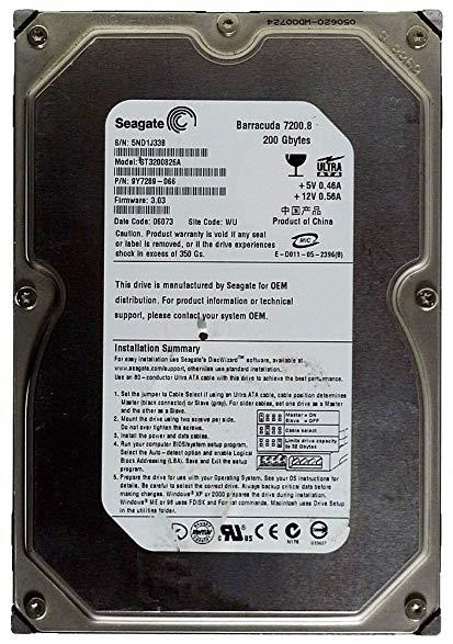 "200GB IDE 3.5"" Desktop Mix Brand Internal Hard Disk Drive HDD"