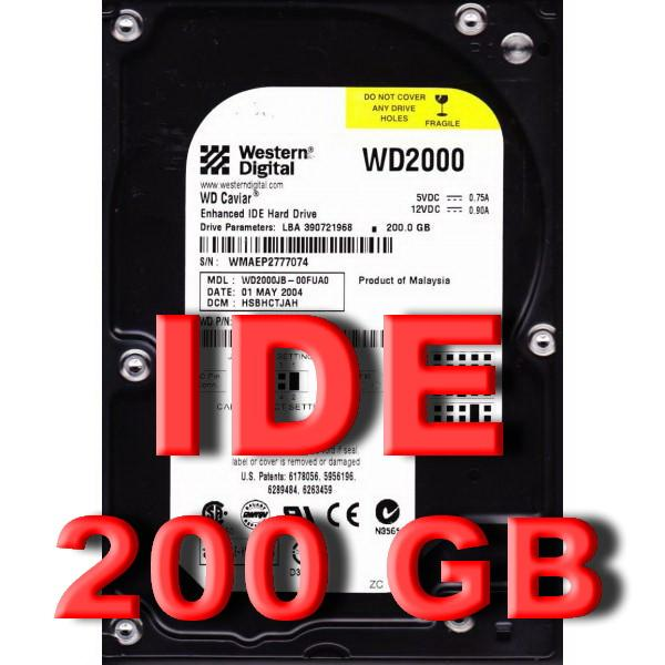 200GB IDE 3.5'INCH 7200RPM 8MB HDD (WD2000JB)