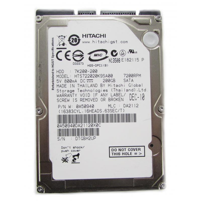 "200GB SATA 2.5"" Laptop Hard Drive Notebook Replace 80GB 160GB HDD"