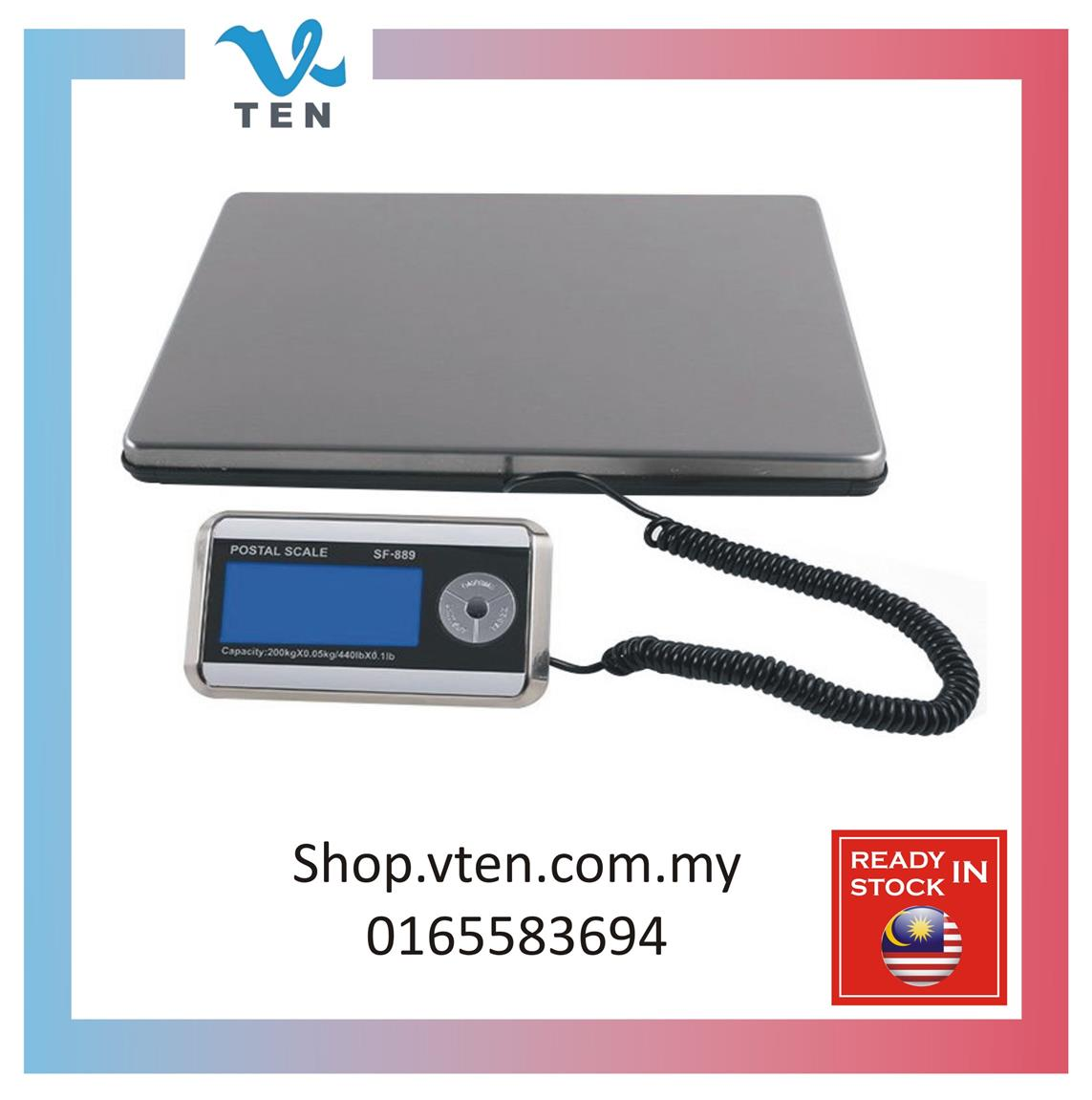 200KGS Electric Switchable Platform Digital Weighing Scale