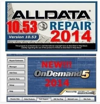 2014 alldata v10.53 All data+2014 Mitchell Vehicle repair software OnD