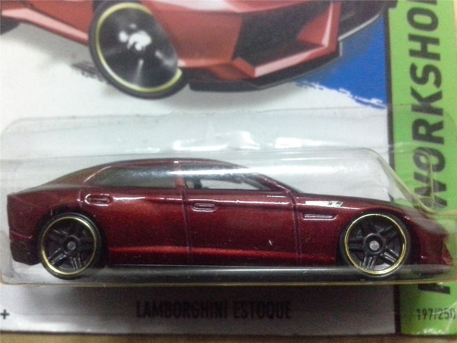 2014 Hot Wheels LAMBORGHINI ESTOQUE MAROON