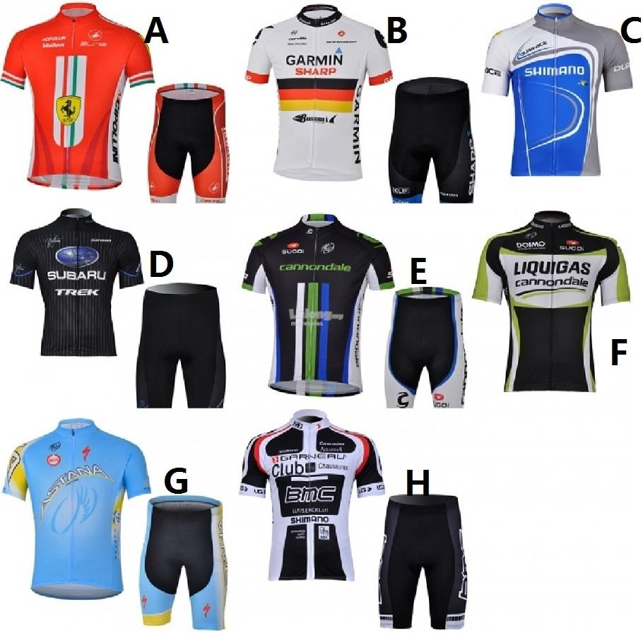 2015 Cycling Jersey + Short Pants Men   Lady Size (8 Designs) a2ec9522a