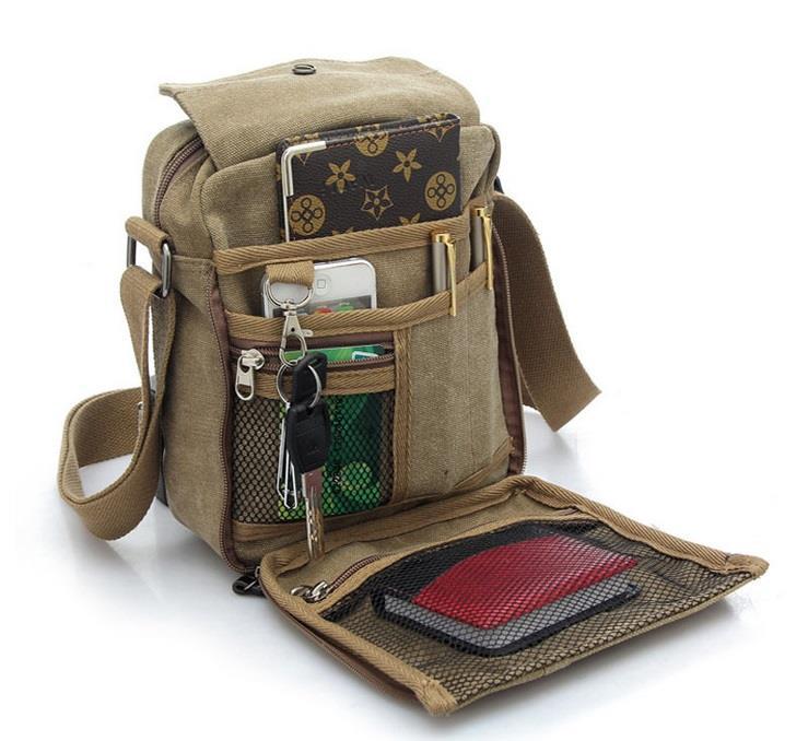 2017 Mens Travel Bag Canvas Men Messenger Bags Vintage Style Briefcase
