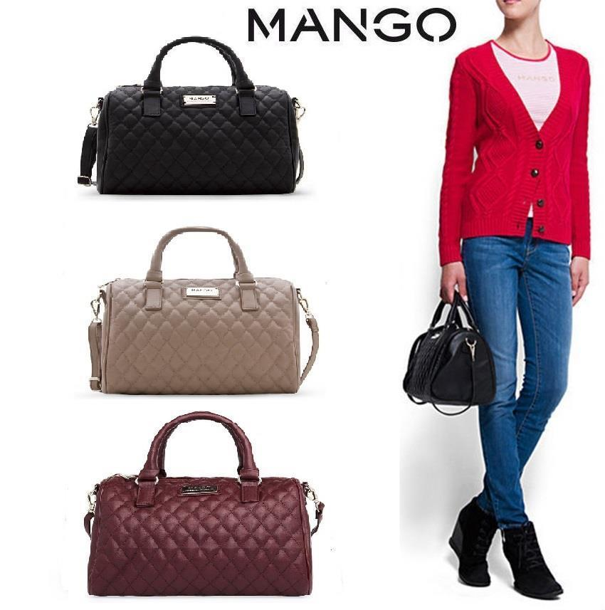 2016 MNG Mango Quilted Bucket Bowling Tote Bag. ‹ ›