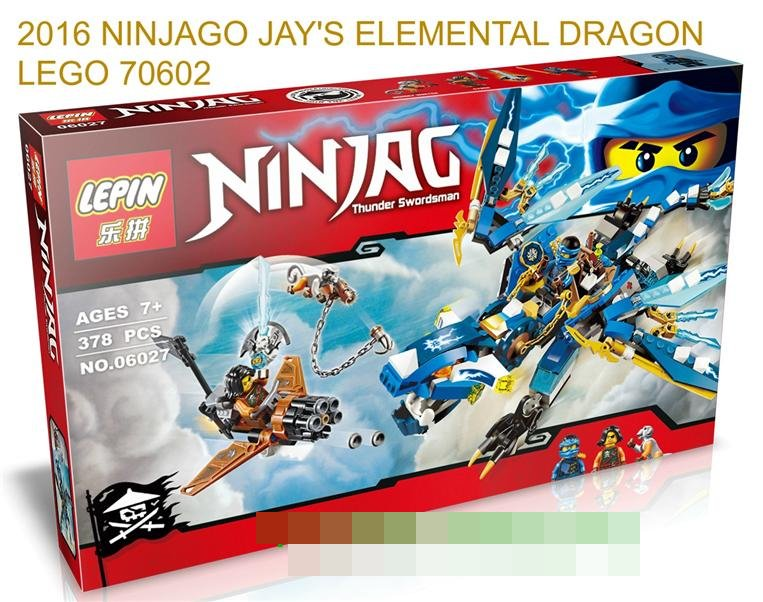 2016 NINJAGO JAY'S ELEMENTAL DRAGON 70602 LEGO COMPATIBLE BRICK