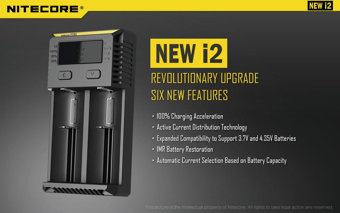 New 2016 Nitecore i2 Intellicharger Charger 14500/18350/18650/22650