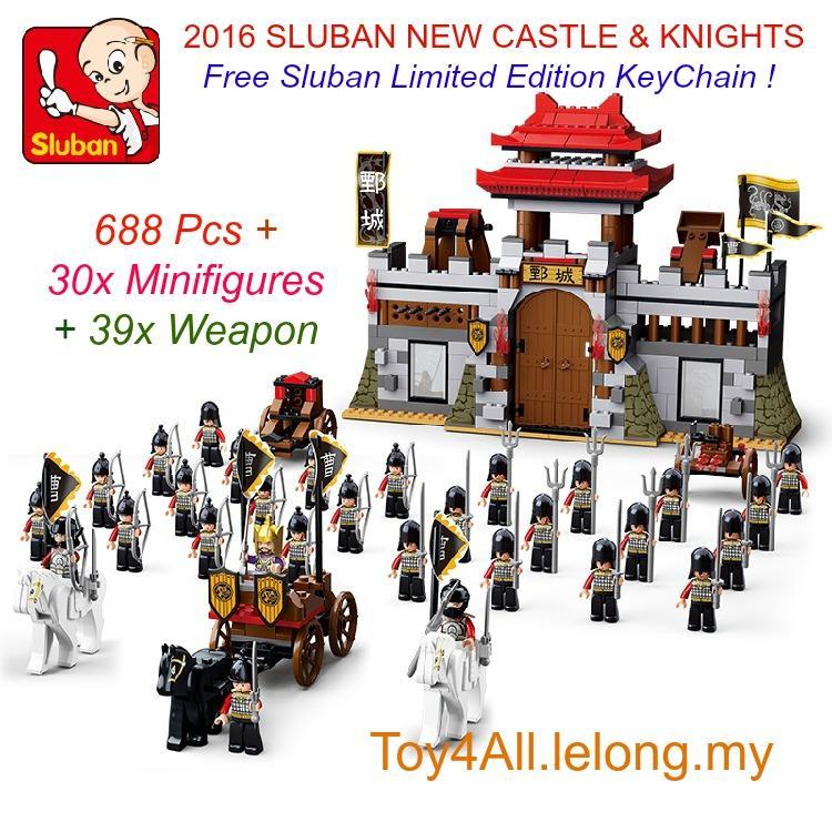 2016 SLUBAN CASTLE & KNIGHTS LEGO COMPATIBLE BRICK
