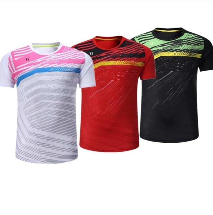 2017 Badminton jersey jersi top for Men and Women 3colors Y5238