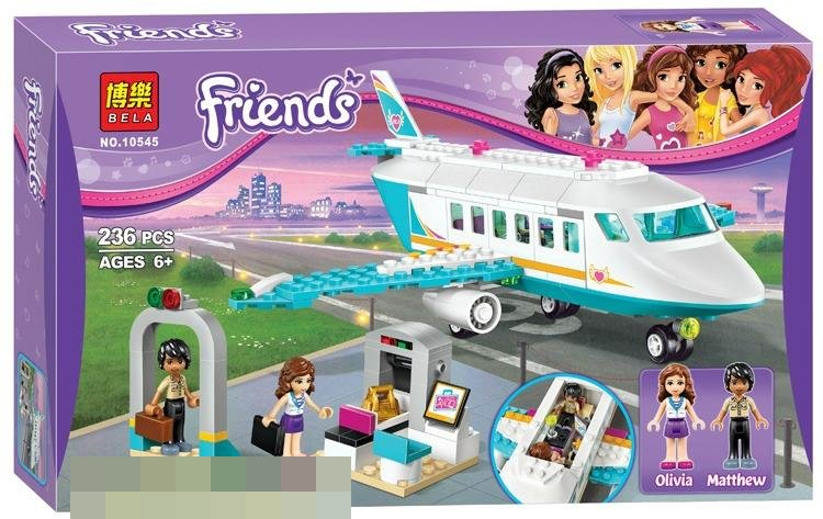 2017 BELA FRIENDS HEARTLAKE PRIVATE JET 41100 LEGO COMPATIBLE BRICK