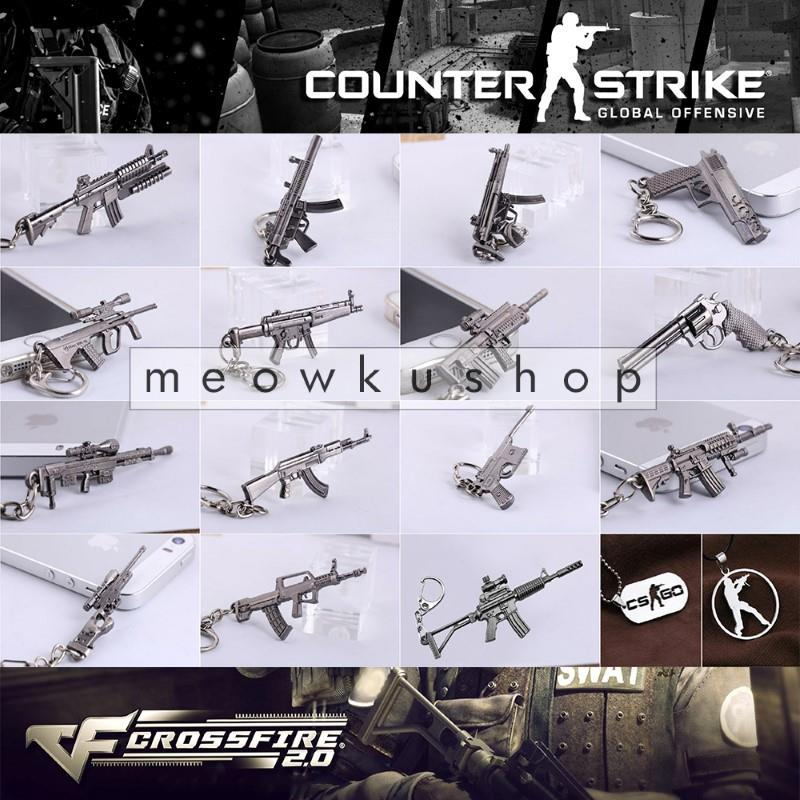NEW 2017 CSGO Counter-Strike CS Gun CF2 CrossFire Metal Keychain