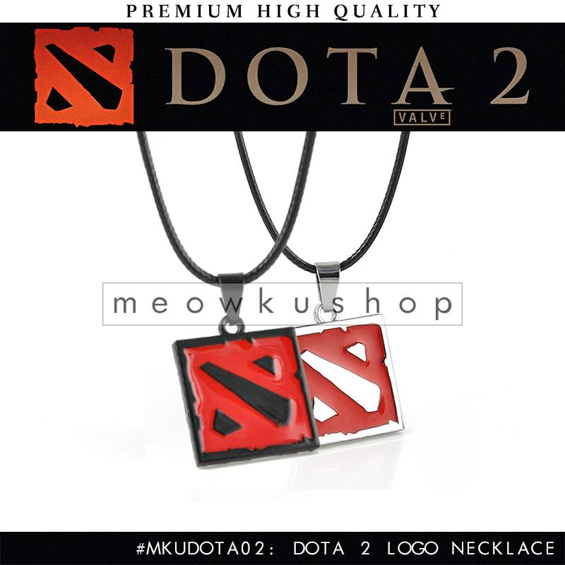 2017 New DOTA 2Metal  Logo Necklace with 27cm Stainless Steel Chain