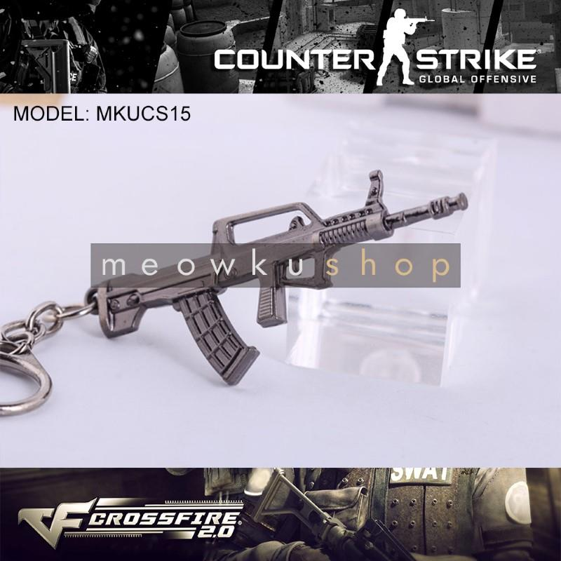 NEW 2017 FAMAS CSGO Counter-Strike CS CF2 CrossFire Metal Keychain