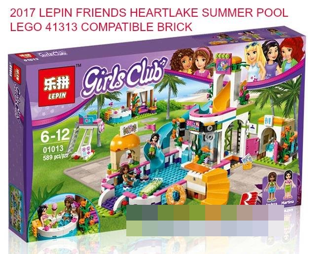 2017 FRIENDS HEARTLAKE SUMMER POOL 41313 LEGO COMPATIBLE BRICK