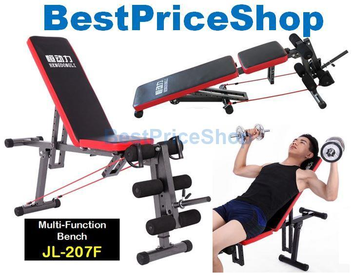 2017 Gym ABS Sit Up Dumbbell Bench Chair Six Pack Leg Exercise JL-207F