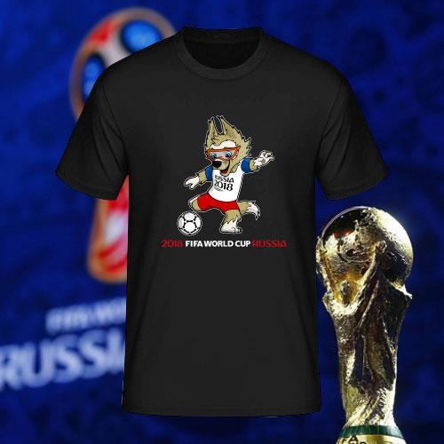 e43b593753f 2018 FIFA World Cup Russia Zabivaka Football T-Shirt CS-683. ‹ › Pizoff  2018 FIFA World Cup Hipster Serbia 3D Print T-Shirt Originality ...
