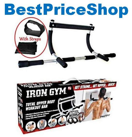 2018 Full Metal Iron Gym Upper Body Workout Chin Pull Up Door Gym Bar