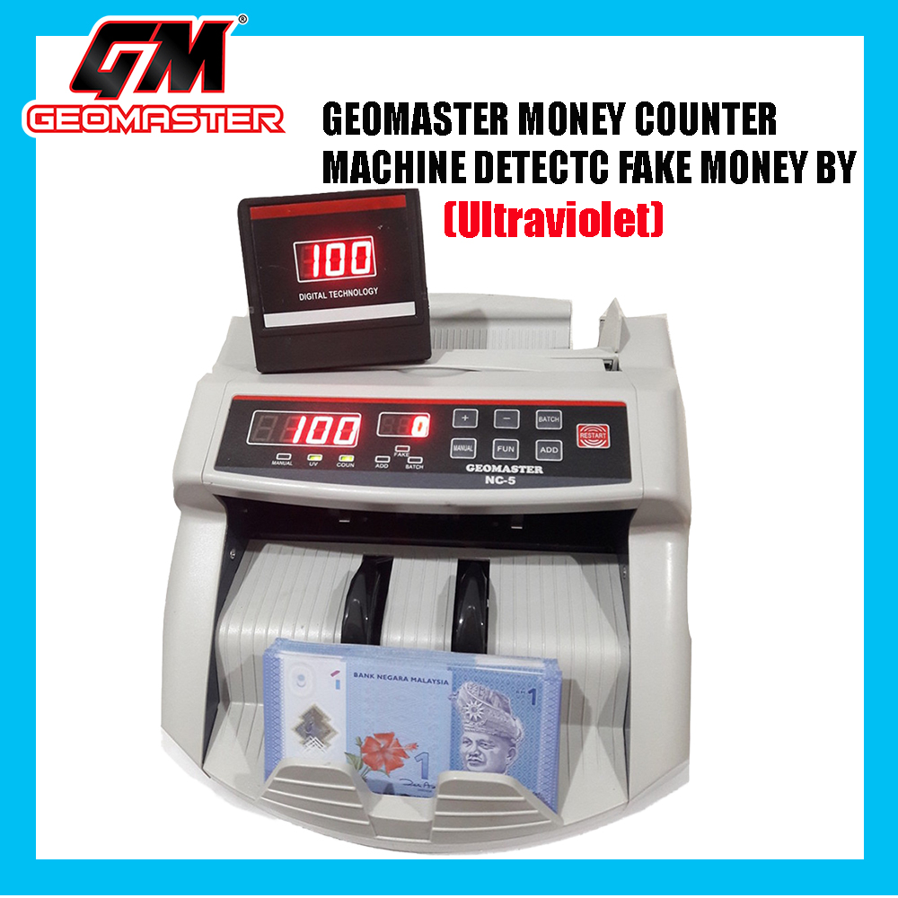 NEW 2018 MONEY NOTES COUNTER MACHINE WITH UV DETECT + 10 YEARS WARRANTY