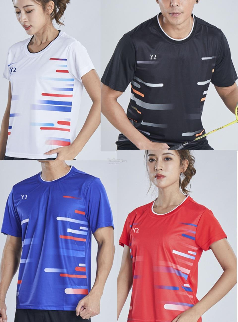 2019 Mens Women badminton racket table tennis sports jersey shirt#Y179