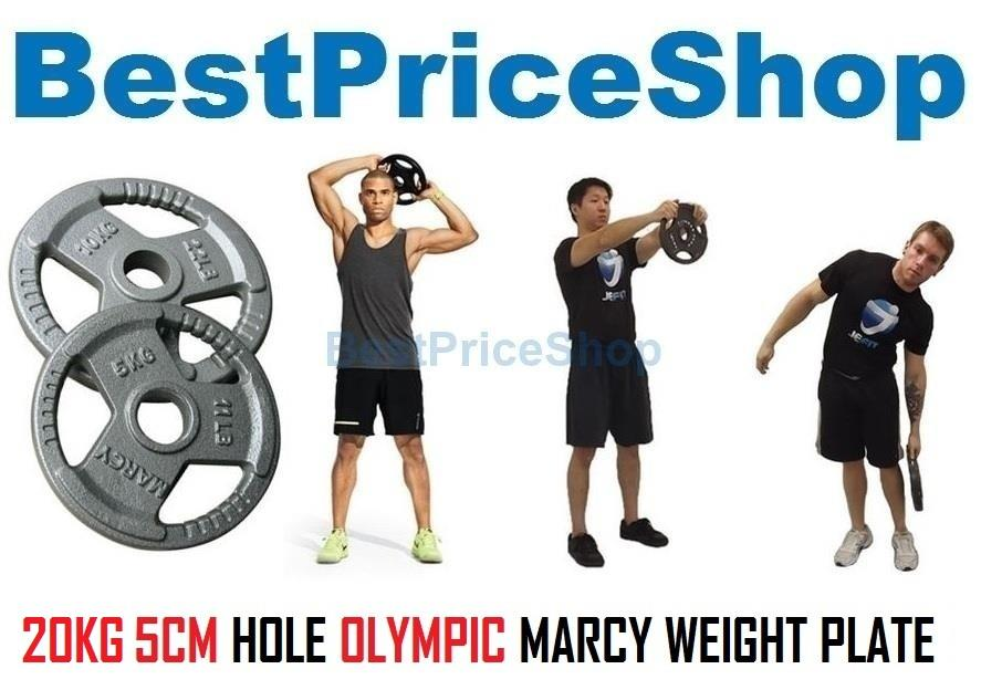 20KG 5CM Hole MARCY Cast Iron Dumbbell Barbell Weight Plates