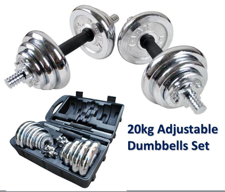 Dumbbell Set Mr Price Sport: 20kg Adjustable Professional Gym Qu (end 4/28/2019 11:52 PM