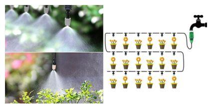 20M Micro Drip Irrigation System Plant Self Watering Garden Hose Kits