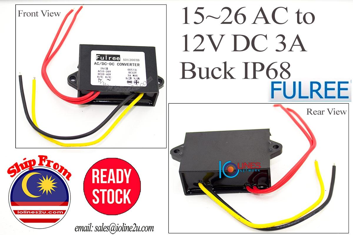 20v 18v 24v Ac 15v40v 36v Dc T End 5 14 2021 1200 Am Step 1 To 12v Voltage Regulator Circuit 3a 36w Power Converter