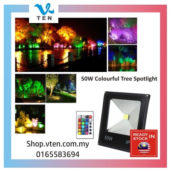 20W 50W Waterproof Super Bright Colorful Decoration Remote Spotlight
