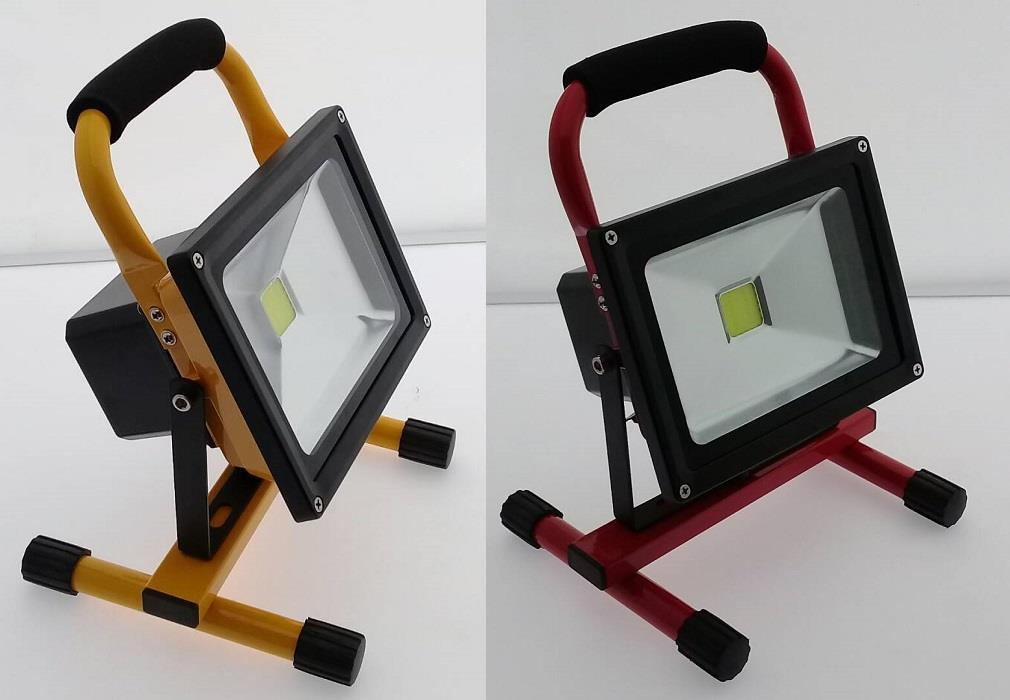 20W Portable LED Flood Light (Yellow, Black, Red)