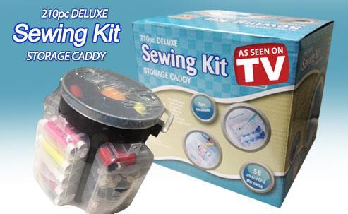 210-Pieces Sewing Kit Storage Caddy