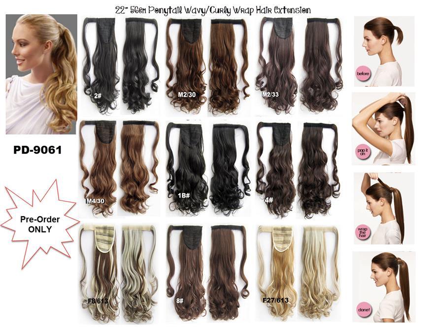 Cm WavyCurly Ponytail Long End PM - Diy ponytail wrap