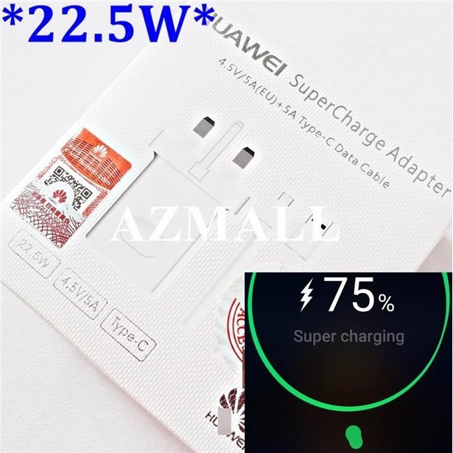 22.5W 2in1 Super Charger Type C Cable Huawei P20 P10 Mate 10 9 Pro V10