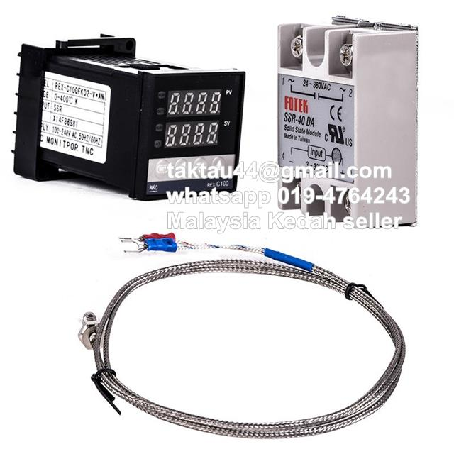 230V Digital PID Controller REX-C100 Temperature SSR K Thermocouple