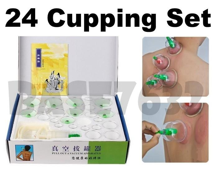 24 Cups Biomagnetic Chinese Cupping Set Traditional Therapy