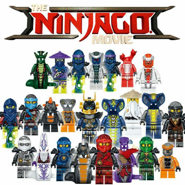 24 pieces Custom Ninjago Ninja Lego Minifigures 71019 Lloyd Garmadon B