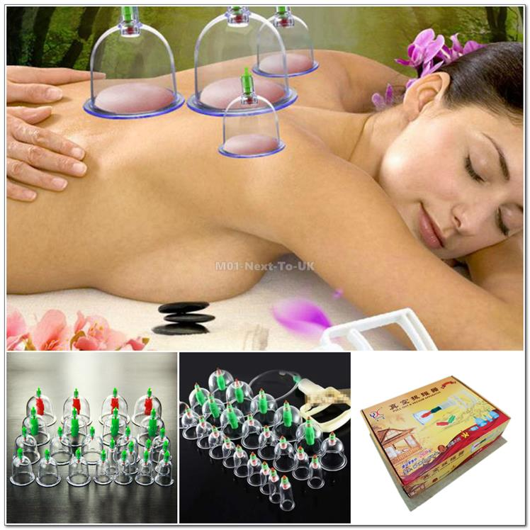 24Pc Chinese Traditional Medical Health Acupuncture Suctio