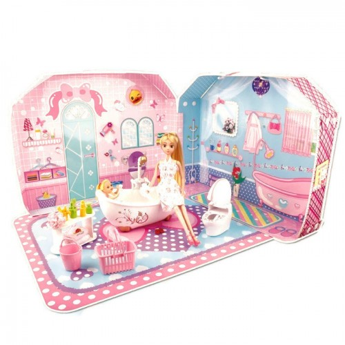 24pcs Barbie Doll Bathroom Set