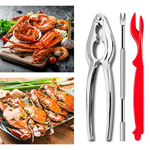 24Pcs Seafood Tools, Crab Crackers Nut Cracker Forks Set, Opener Shellfish Lob