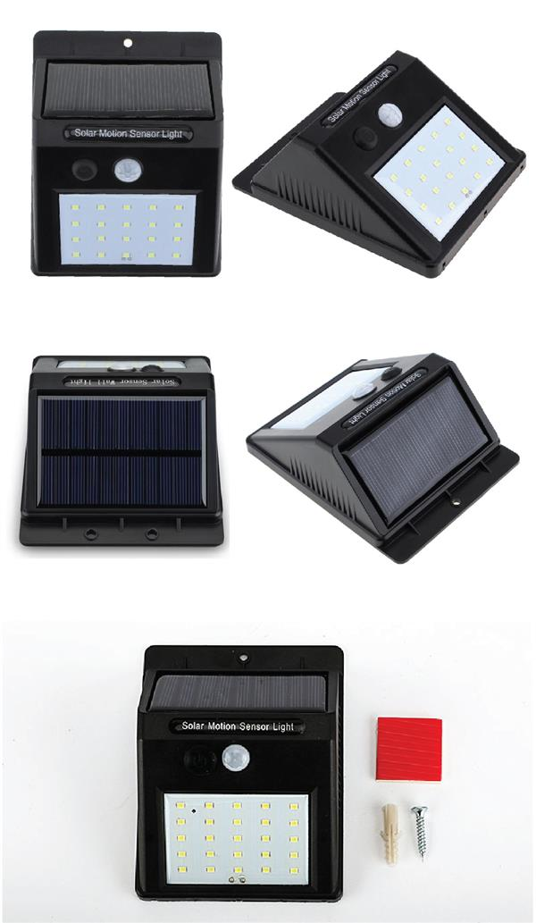 25 LED Solar Light Powered Wall Motion PIR CDS Night Sensor Waterproof