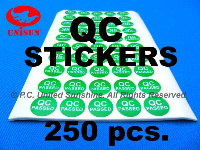 Qc sticker 15mm round green best used with fragile stickers
