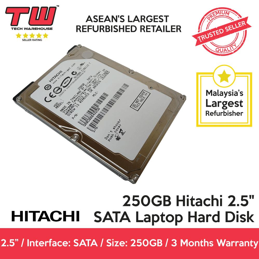"250GB Hitachi 2.5"" SATA Laptop Hard Disk / 3 Month Warranty"